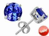 Original Star K™ Round 7mm Simulated Tanzanite Earring Studs