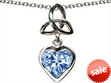 Celtic Love by Kelly Love Knot Pendant with Heart 9mm Simulated Aquamarine style: 305242