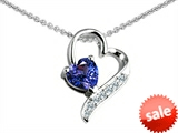 Original Star K™ 7mm Heart Shape Simulated Tanzanite Heart Pendant