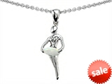 Original Star K™ Ballerina Dancer Pendant with Round 7mm Created Opal