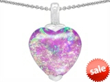 Original Star K™ Heart Shaped Created 10mm Pink Opal Pendant
