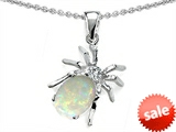 Original Star K™ Spider Pendant With 9x7mm Oval Created Opal