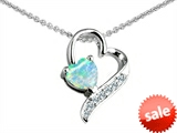 Original Star K™ 7mm Heart Shape Created Opal Heart Pendant