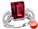 Original Star K™ Large Emerald Cut 10x8mm Created Ruby Solitaire Ring style: 305368