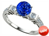 Original Star K™ Classic 3 Stone Engagement Ring With Round 7mm Created Sapphire style: 305408