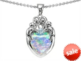 Original Star K™ Loving Mother And Family Pendant With Heart Shape Created Opal style: 305449