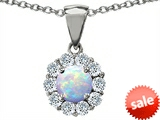 Original Star K™ Round 6mm Created Opal Pendant style: 305490