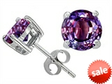 Original Star K™ Round 7mm Simulated Alexandrite Earrings Studs style: 305513