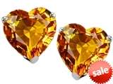 Original Star K™ Heart Shape 7mm Genuine Citrine Earring Studs