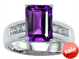 Original Star K™ Classic Octagon Emerald Cut 9x7 Engagement Ring With Genuine Amethyst style: 305545