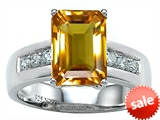 Original Star K™ Classic Octagon Emerald Cut 9x7 Engagement Ring With Genuine Citrine
