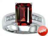 Original Star K™ Classic Octagon Emerald Cut 9x7 Engagement Ring With Genuine Garnet style: 305547