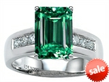 Original Star K™ Classic Octagon Emerald Cut 9x7 Engagement Ring With Simulated Emerald style: 305549