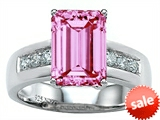 Original Star K™ Classic Octagon Emerald Cut 9x7 Engagement Ring With Created Pink Sapphire