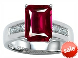 Original Star K™ Classic Octagon Emerald Cut 9x7 Engagement Ring With Created Ruby style: 305551