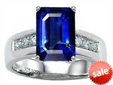 Original Star K™ Classic Octagon Emerald Cut 9x7 Engagement Ring With Created Blue Sapphire style: 305552