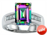 Original Star K™ Classic Octagon Emerald Cut 9x7 Engagement Ring With Rainbow Mystic Topaz style: 305553