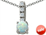 Original Star K™ Round Created Opal Pendant style: 305567