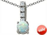 Original Star K™ Round Created Opal Pendant style: 305567