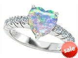 Original Star K™ 8mm Heart Shape Simulated Opal Engagement Ring style: 305578
