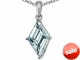 Tommaso Design™ Custom Cut Kite Shape Genuine Aquamarine Pendant