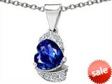 Original Star K™ Heart Shape 8mm Created Sapphire Pendant style: 305591