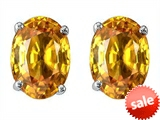 Original Star K™ Oval 8x6mm Genuine Citrine Earring Studs