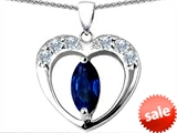 Original Star K™ Heart Pendant With Marquee Cut Created Sapphire