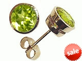 Tommaso Design™ Round Genuine Peridot Earrings style: 305602