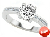 Original Star K™ Round 7mm Genuine White Topaz Engagement Ring style: 305616