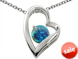 Original Star K™ 7mm Round Created Blue Opal Pendant