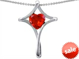 Original Star K™ Large Christian Cross Of Love Pendant With Heart Simulated Mexican Fire Opal style: 305647