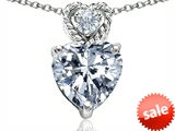 Original Star K™ 8mm Heart Shape Genuine White Topaz Pendant style: 305688
