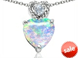 Original Star K™ 8mm Heart Shape Created Opal Pendant style: 305692