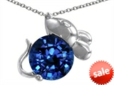 Original Star K™ Mouse Pendant With Round 8mm Created Sapphire