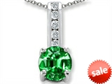 Original Star K™ Round 7mm Simulated Emerald Pendant