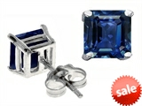 Original Star K™ Classic Square 7mm Created Sapphire Earring Studs
