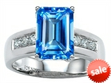Original Star K™ Classic Octagon Emerald Cut 9x7 Engagement Ring With Genuine Blue Topaz