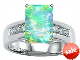 Original Star K™ Classic Octagon Emerald Cut 9x7 Engagement Ring With Created Opal