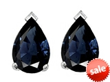 Tommaso Design™ 8x6mm Pear Shape Genuine Sapphire Earrings style: 305771