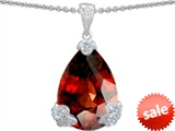 Original Star K™ Large 17x11mm Pear Shape Simulated Garnet Pendant