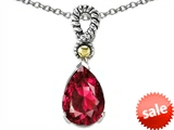 Original Star K™ 11x8mm Pear Shape Created Ruby Pendant
