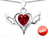 Original Star K™ Wings Of Love Pendant with Created Heart Ruby