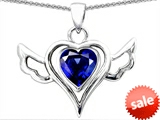 Original Star K™ Wings Of Love Pendant with Created Heart Sapphire style: 305782