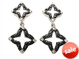 Original Star K™ Cubic Zirconia Black Star Earrings Studs style: 305791