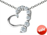 Original Star K™ Heart Pendant with Round Cubic Zirconia