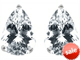 Original Star K™ Pear Shape 9x7mm White Topaz Earring Studs