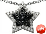Original Star K™ Cubic Zirconia Black and White Star Pendant