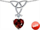 Celtic Love by Kelly™ Love Knot Pendant with 8mm Heart Shape Simulated Garnet style: 305808