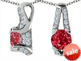 Original Star K™ Round Created Ruby Pendant style: 305819